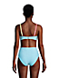 Seersucker-Bikinitop CHLORRESISTENT Colorblock Gemustert für Damen in E-Cup