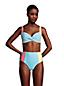 Haut de Bikini Twisté à Armatures Résistant au Chlore Seersucker, Femme Stature Standard