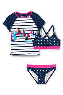 Girls' Short Sleeve 3 Piece Rash Vest Set