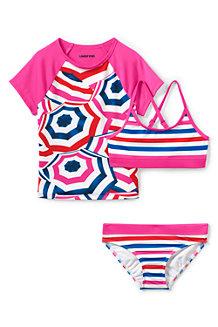 Badeshirt und Bikini im Set, 3-teilig für Mädchen