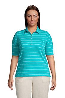 Women's Linen/Cotton Polo Shirt