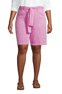 Women's Pure Linen Pull-on Shorts