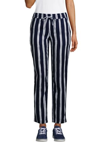 Women's Pull On Pure Linen Trousers