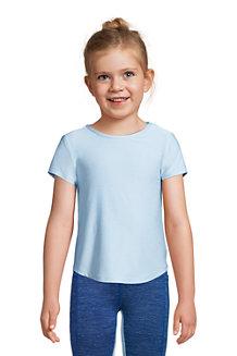T-Shirt Sport Dos Croisé à Manches Courtes, Fille