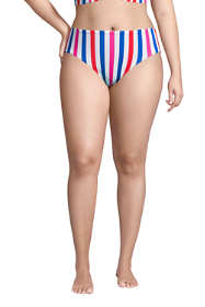 Women's Plus Size Chlorine Resistant Reversible Mid Waist Bikini Bottoms