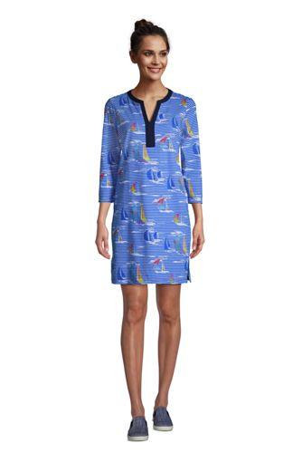 Tunika-Strandkleid Gemustert für Damen