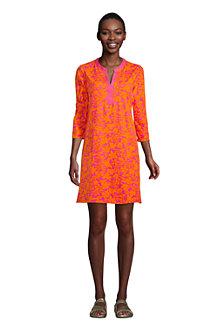 Women's V-Neck Cotton Cover-up Dress
