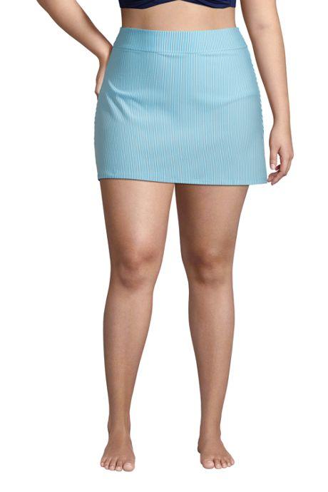 Women's Plus Size Chlorine Resistant Swim Skirt Swim Bottoms Seersucker