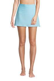 Women's Petite Chlorine Resistant Swim Skirt Swim Bottoms Seersucker