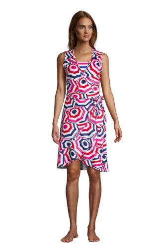 Volant-Strandkleid Gemustert für Damen