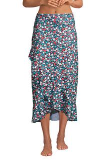 Women's Ruffle Hem Midi Cover-up Skirt