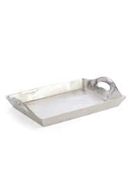 Napa Home and Garden Aluminum Rectangular Decorative Tray with Handles