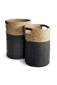 Napa Home and Garden Madura Pandan and Raffia Hamper Baskets Set Of 2