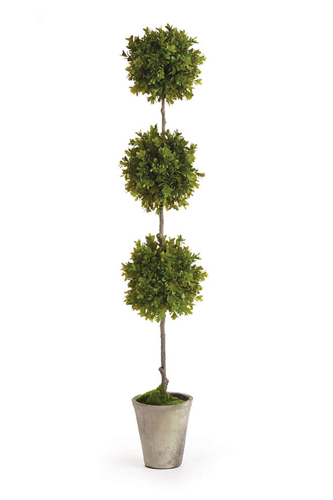 Napa Home and Garden 36 inch Artificial Barclay Butera Boxwood Potted Topiary, Front