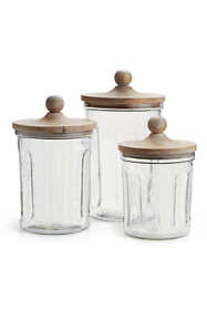 Napa Home and Garden Olive Hill Glass Jars Set Of 3