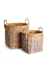 Napa Home and Garden Sonoma Rattan Harvest Baskets Set Of 2