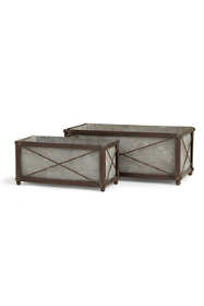 Napa Home and Garden Cedar Ridge Rectangular Cachepots Set Of 2