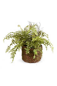 Napa Home and Garden 12 inch Artificial Boston Fern Rustic Drop In Plant