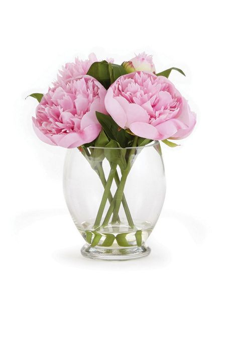 Napa Home and Garden 9 inch Artificial Peony Arrangement In Vase
