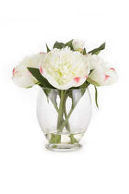 Napa Home and Garden 9 inch Artificial Peony Arrangement In Vase