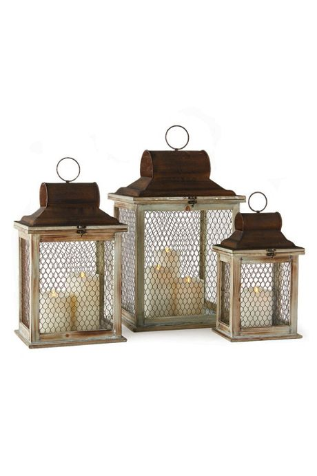 Napa Home and Garden Timberline Lanterns Set Of 3