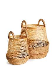 Napa Home and Garden Kolaka Bamboo and Banana Leaf Baskets Set Of 2