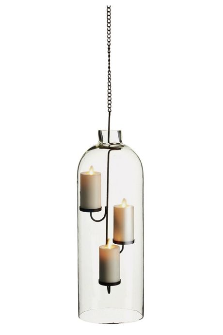 Napa Home and Garden 17.75 inch Arbor Glass and Iron Lantern