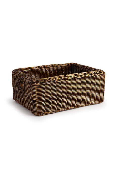 Napa Home and Garden Burma Double Woven Rattan Rectangular Basket