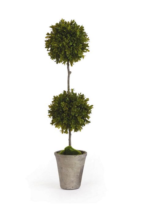 Napa Home and Garden 25 inch Artificial Barclay Butera Boxwood Potted Topiary