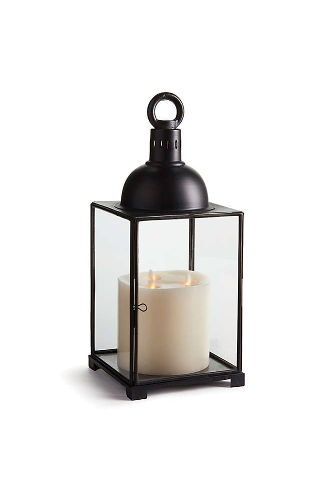 Napa Home and Garden 18.5 inch Aragon Iron and Glass Lantern, Front