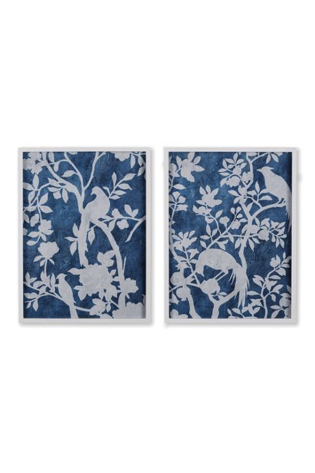 Napa Home and Garden Aviary Cyano Prints Set Of 2