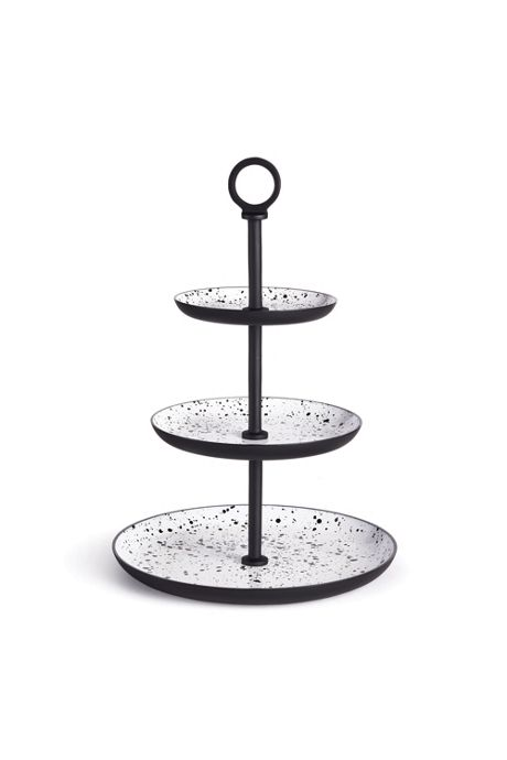 Napa Home and Garden Speckle 3 Tier Round Serving Tray