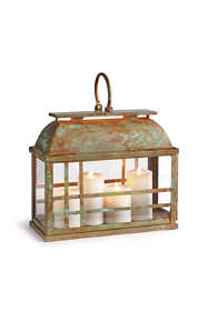 Napa Home and Garden Small Solana Iron and Glass Lantern