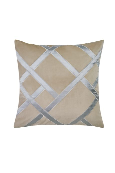 Charisma Tristano Metallic Lattice Decorative Throw Pillow