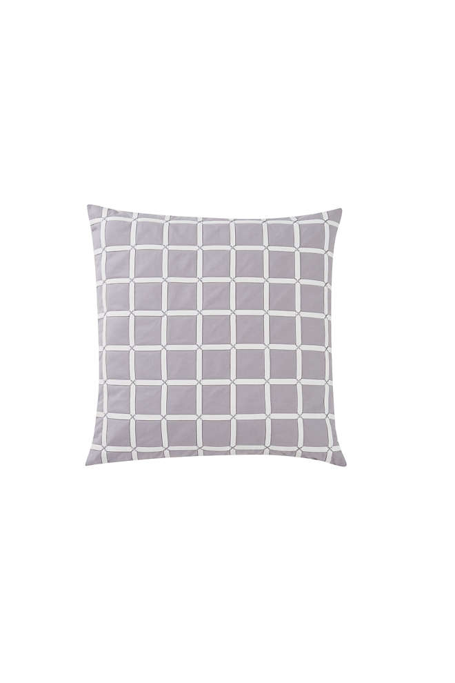 Charisma Essex Grid Decorative Throw Pillow, Front