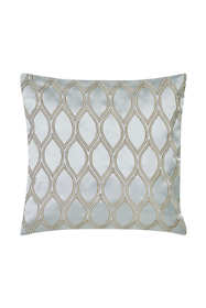 Charisma Tristano Metallic Embroidered Decorative Throw Pillow
