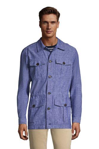 Hemdjacke im Worker-Stil aus Leinen-Mix für Herren
