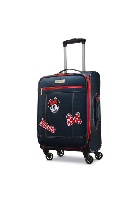 American Tourister Disney Denim Minnie Softside 19 inch Spinner Luggage