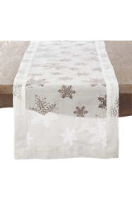 Saro Lifestyle Snowflake 16 x 120 Table Runner