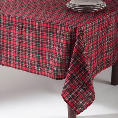 Saro Lifestyle Christmas Plaid 72 inch Tablecloth
