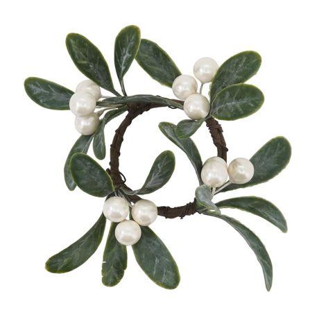 Saro Lifestyle Mistletoe 4 inch Napkin Rings