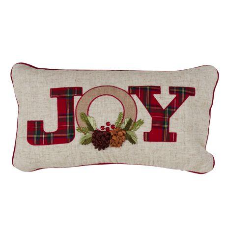 Saro Lifestyle Noel and Joy Christmas Decorative Throw Pillow