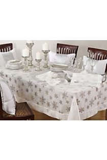 Saro Lifestyle Snowflake 50 x 70 Tablecloth, alternative image