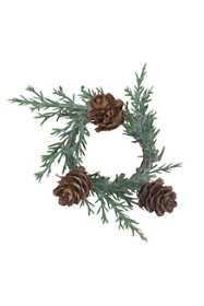 Saro Lifestyle Pine Cone 4 inch Napkin Rings