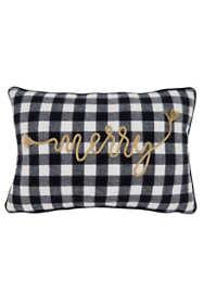 Saro Lifestyle Merry Buffalo Plaid Christmas Decorative Throw Pillow