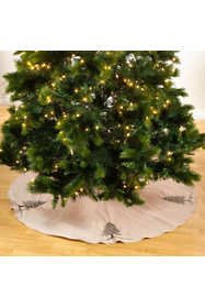 Saro Lifestyle Beaded Christmas Tree Skirt