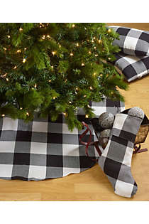 Saro Lifestyle Buffalo Plaid 72 inch Christmas Tree Skirt, alternative image