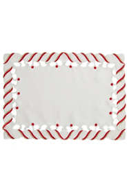 Saro Lifestyle Christmas Candy Cane Stripe Placemat