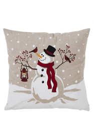 Saro Lifestyle Christmas Snowman Decorative Throw Pillow