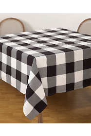 Saro Lifestyle Buffalo Plaid Cotton 90 inch Tablecloth
